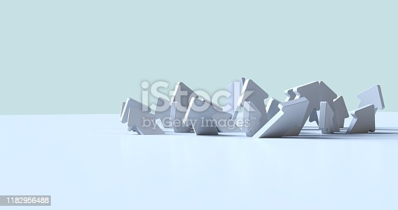 118386322 istock photo Arrows laying down on white background. 1182956488