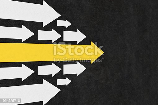 istock Arrows Leadership Concept on the Road 954525710