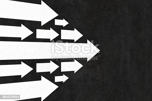 istock Arrows Leadership Concept on the Road 954525844