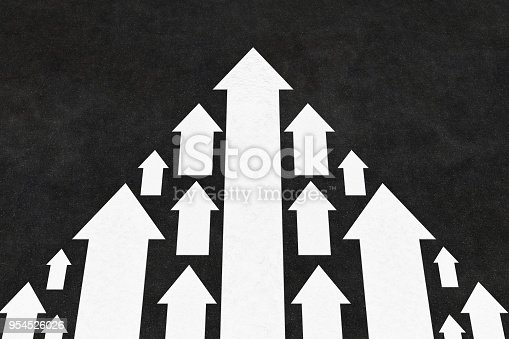 istock Arrows Leadership Concept on the Road 954526026