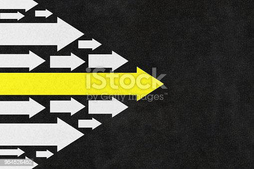 istock Arrows Leadership Concept on the Road 954526452