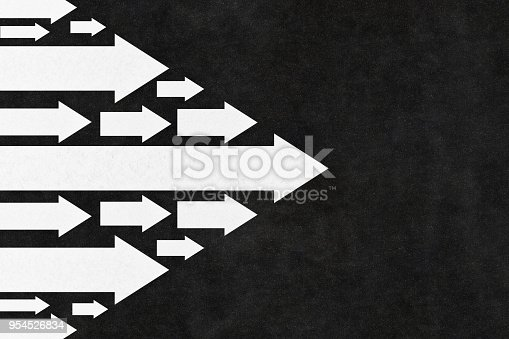 istock Arrows Leadership Concept on the Road 954526834
