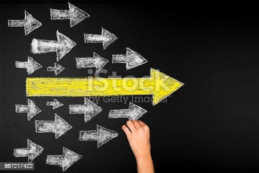 istock Arrows Leadership Concept 887217422