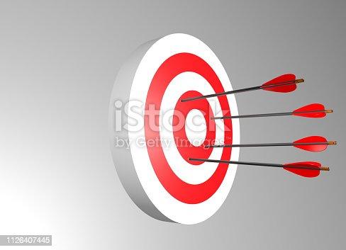 istock Arrows miss target 1126407445
