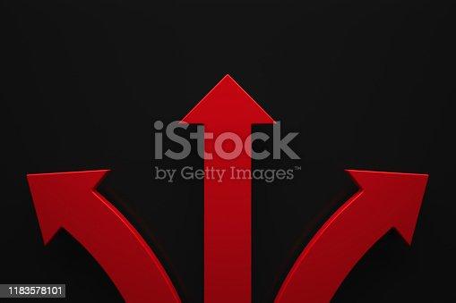 istock Arrows on a dark background 1183578101