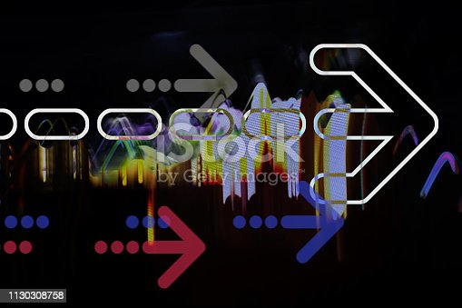 istock Arrows on abstract background 1130308758