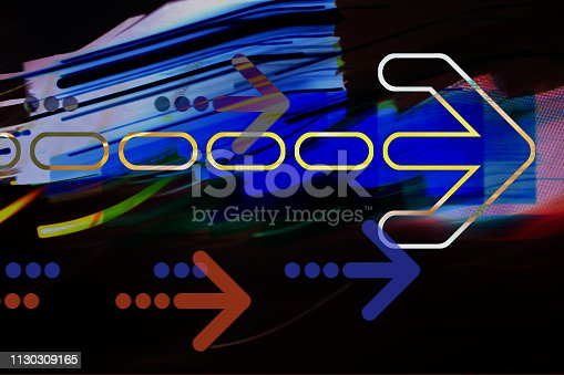 157434064 istock photo Arrows on abstract background 1130309165