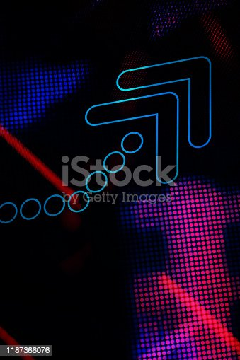 istock Arrows on abstract graphic background. 1187366076