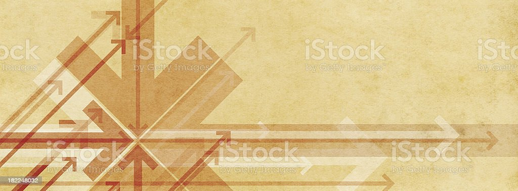 Arrows on Paper Background royalty-free stock photo