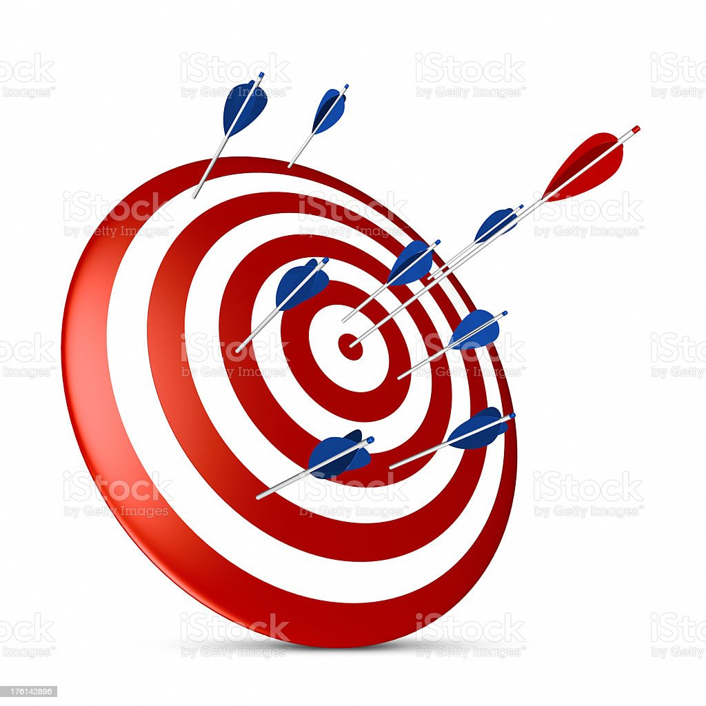 Arrows on target royalty-free stock photo