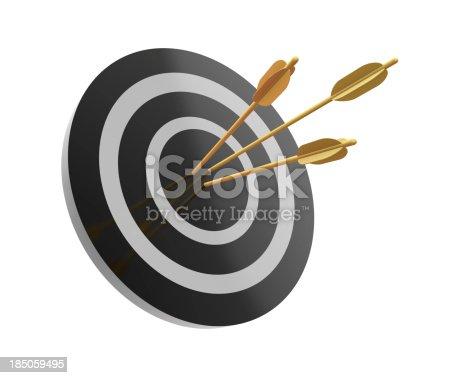 istock Arrows on Target 185059495