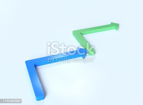 istock 3D arrows 1142452552