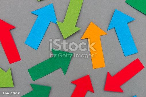 Random paper arrows.