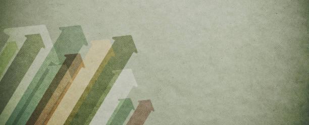 Pfeile, die auf Papierhintergrund zeigen – Foto