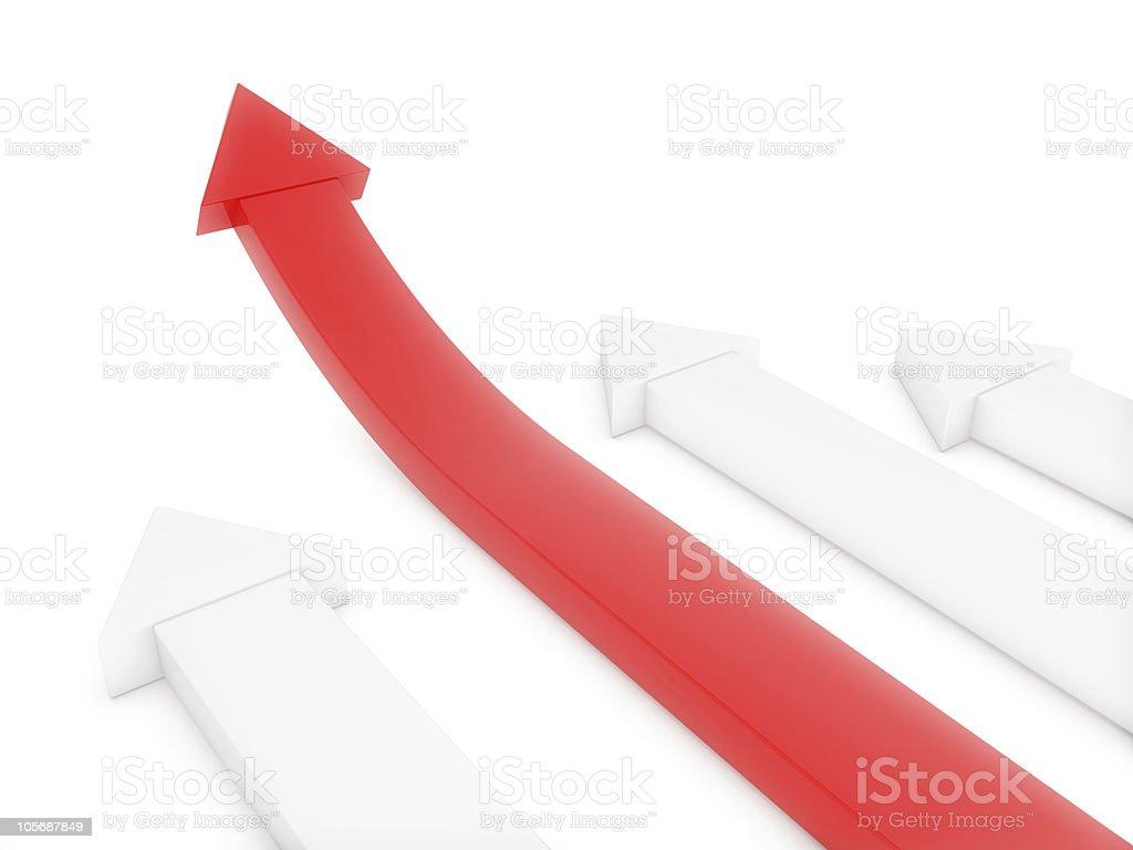 Arrows Success Concept royalty-free stock photo