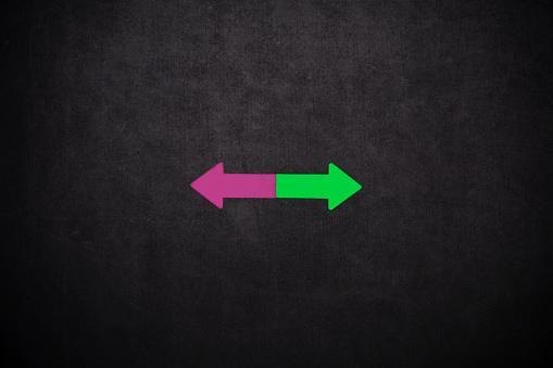 Arrows with copy space
