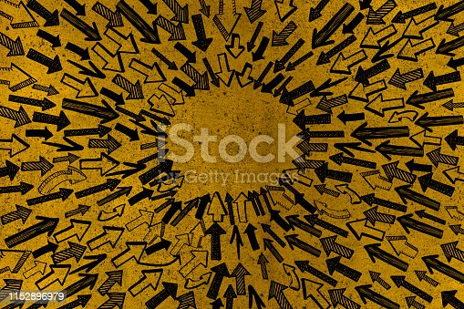 istock Arrows with Speech Bubble 1152896979