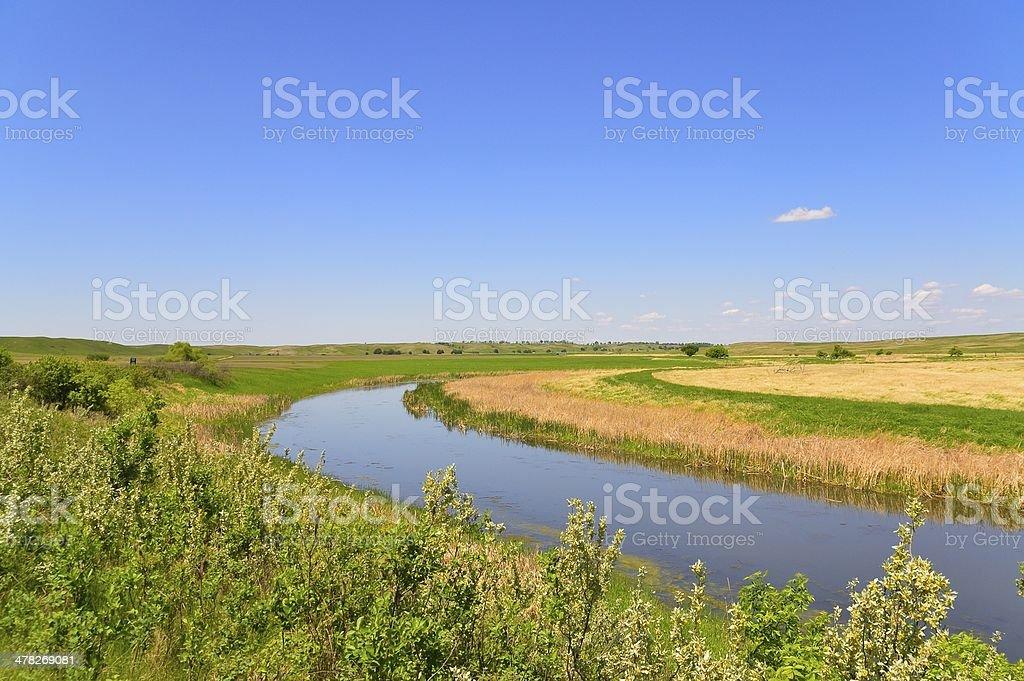 Arrowwood NWR James River Horizontal royalty-free stock photo
