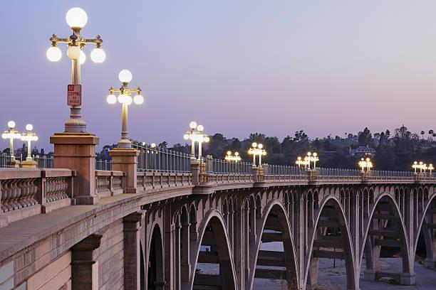 Arroyo Seco Bridge Pasadena stock photo