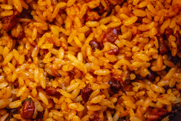 Arroz con Habichuelas - Beans and Rice Arroz con Habichuelas - Beans and Rice arroz stock pictures, royalty-free photos & images