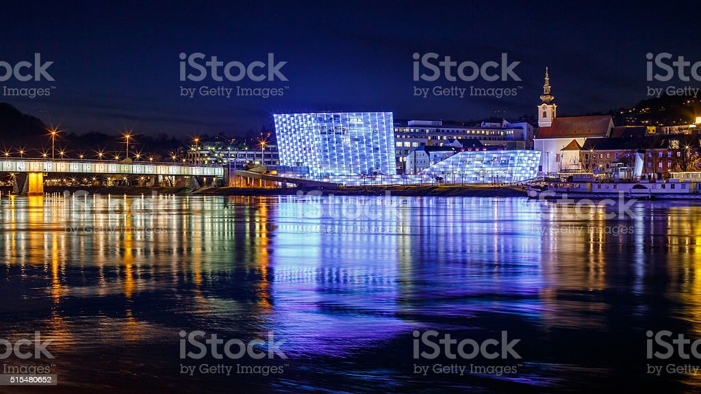 Ars Electronica in Linz stock photo