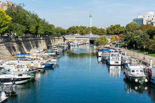Arsenal boat basin in Paris
