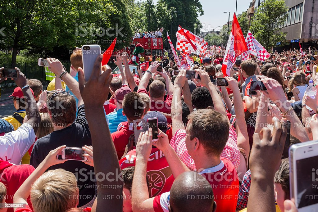 Arsenal FA Cup victory parade stock photo