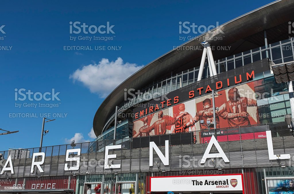 Arsenal Football Club Emirates Stadium stock photo