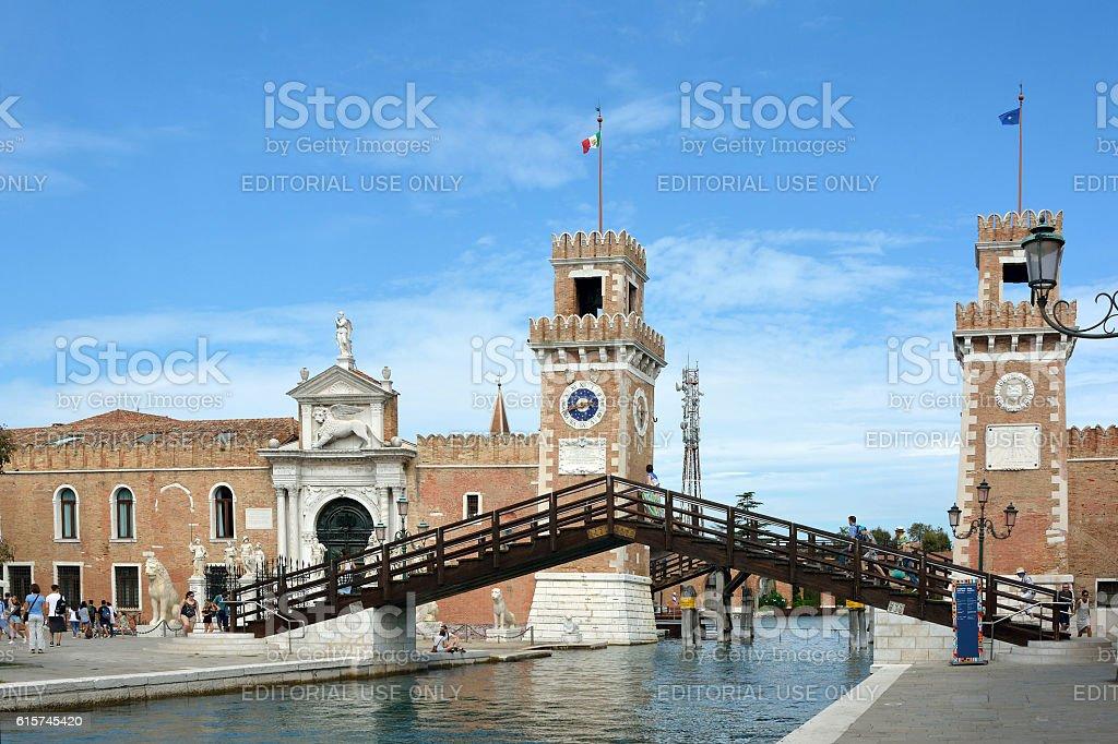 Arsenal of Venice - Italy. - foto de acervo