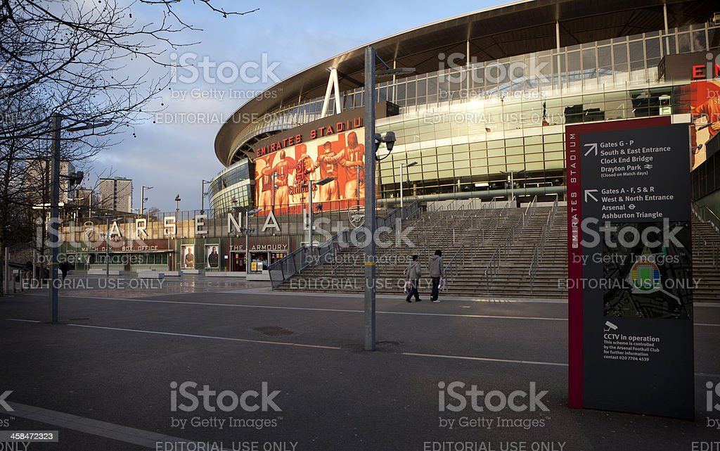 Arsenal Soccer Stadium, Highbury, North London stock photo