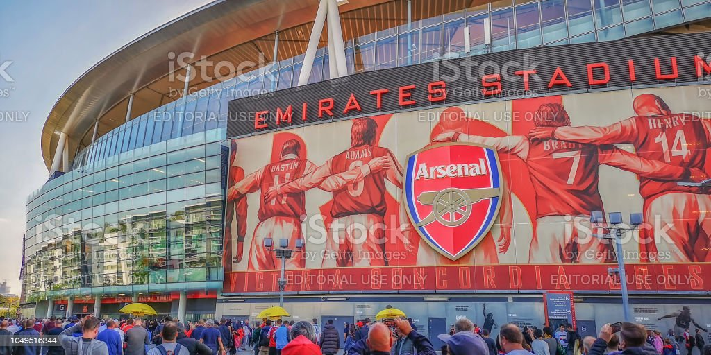 Arsenal's Emirates Stadium before a match stock photo