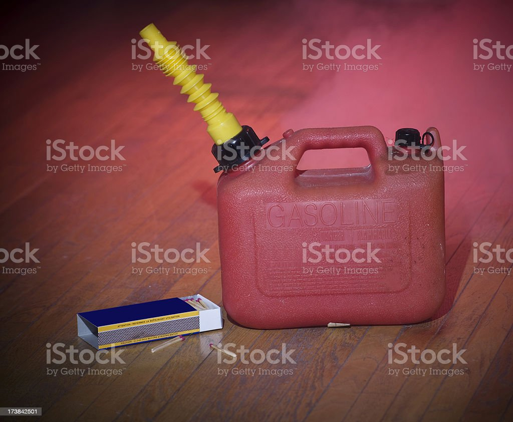 Arson stock photo