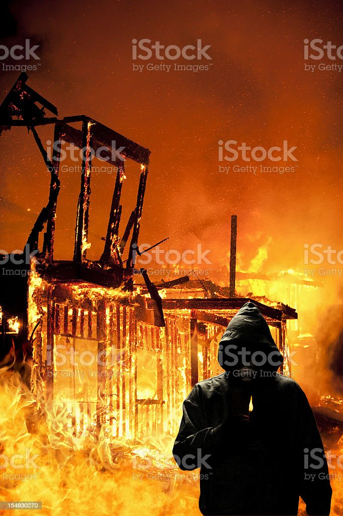 Arsonist At Work royalty-free stock photo