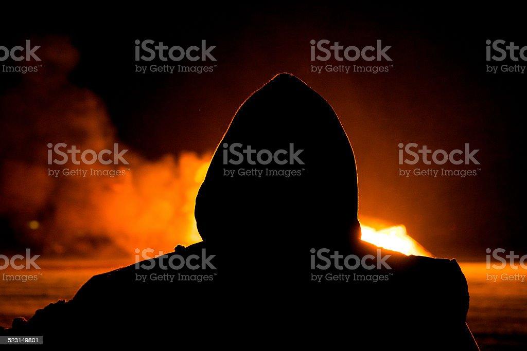 Arsonist stock photo