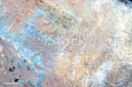 Art abstract background. Acrylic on fiber. Brushstrokes of paint. Wall textures.