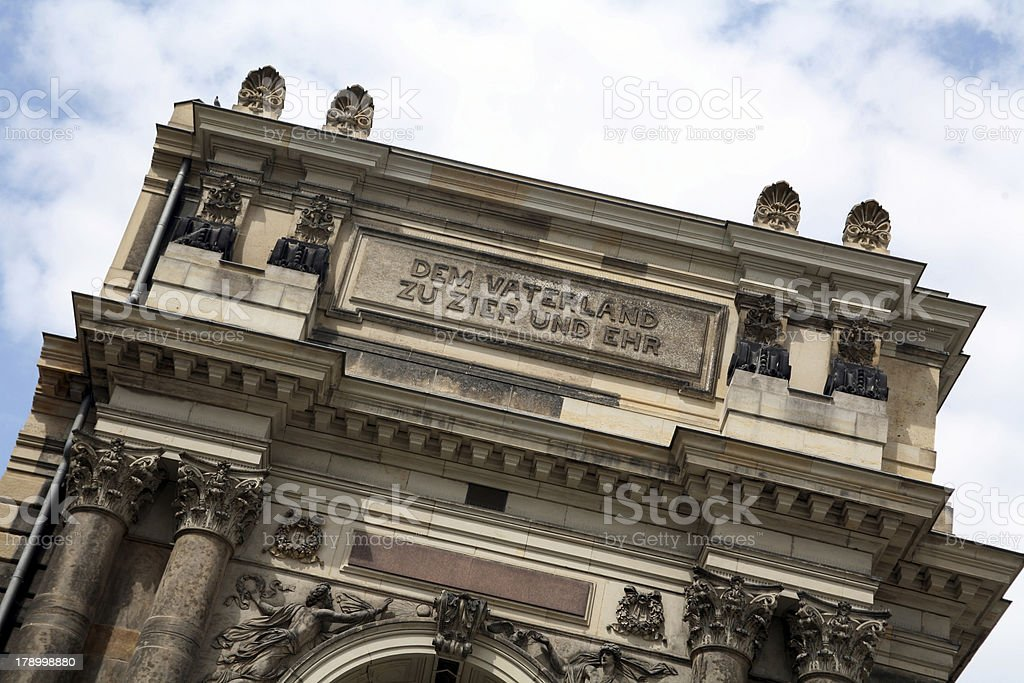 Art academy in Dresden (Saxony, Germany) stock photo