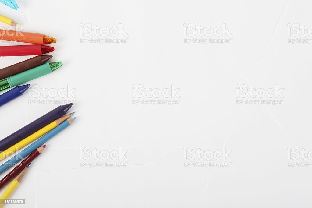 Art And Craft Equipment royalty-free stock photo
