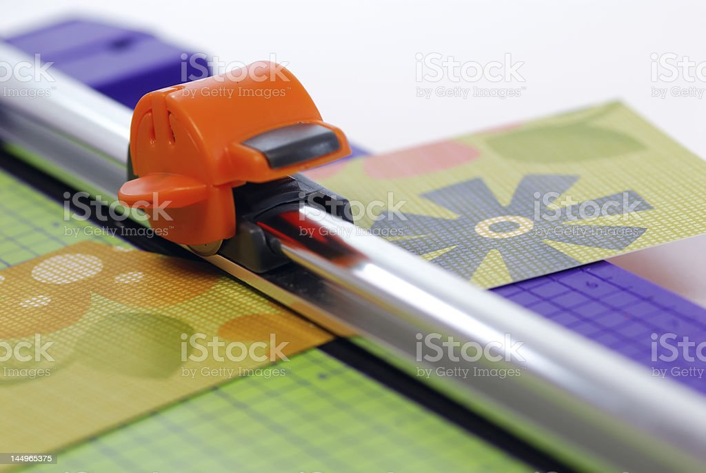 Art and Craft Guillotine royalty-free stock photo
