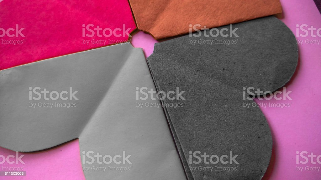 art and craft paper flower and colorful texture and background stock photo