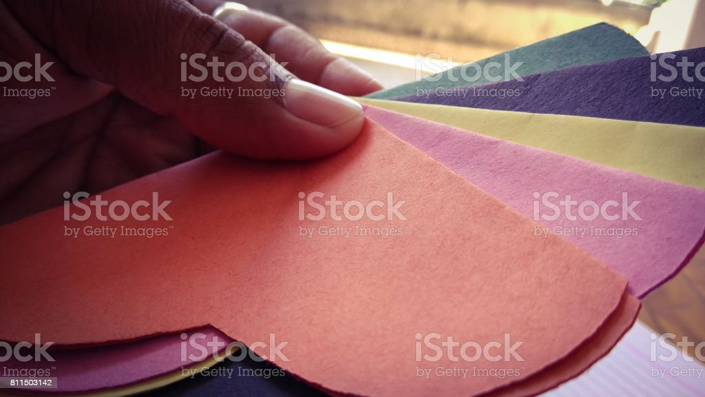 art and craft paper flower and colorful texture and background