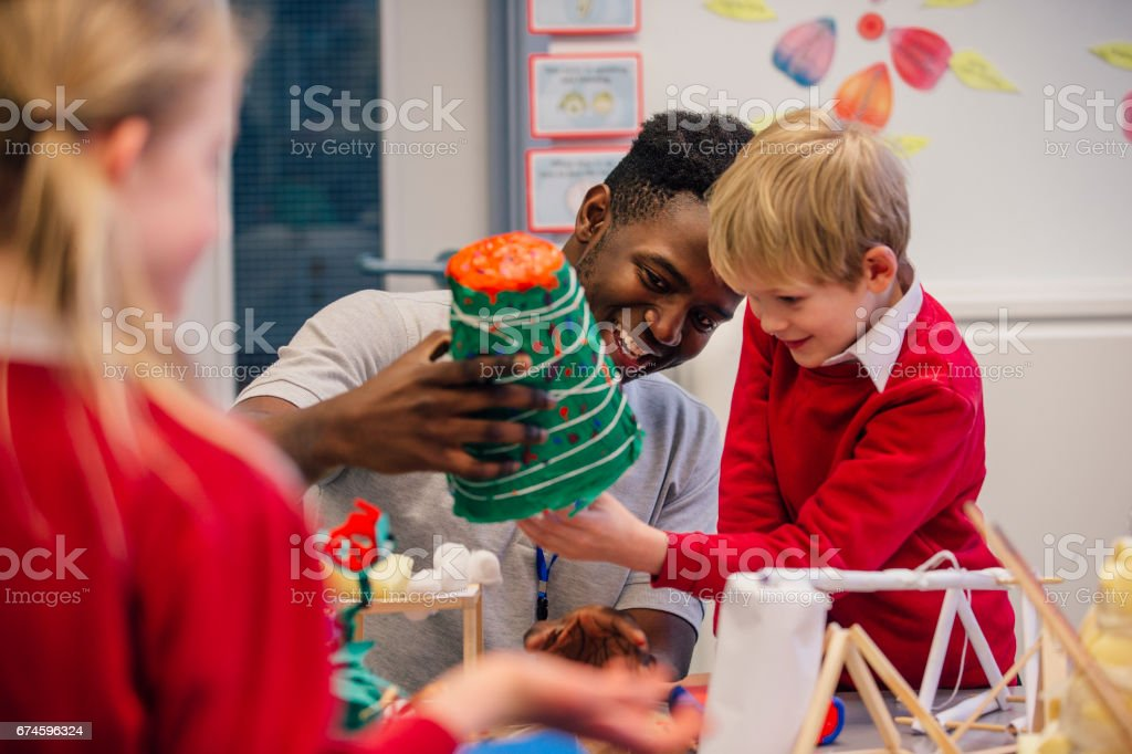 Art and Crafts At School royalty-free stock photo