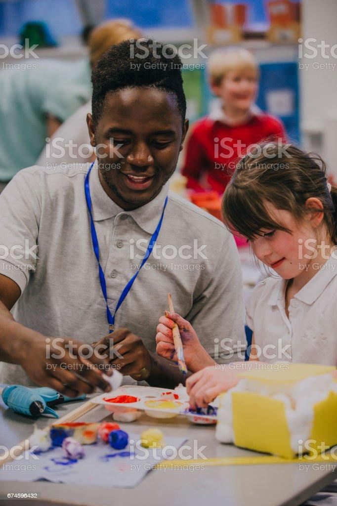 Arte e artesanato na escola - foto de acervo