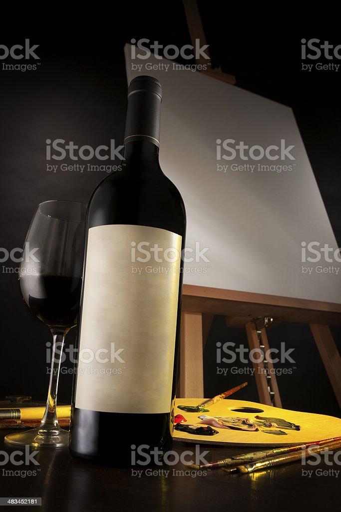 Art and Wine stock photo