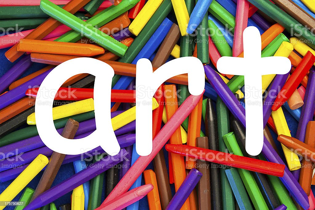 Art as a word - education, school children, teaching. royalty-free stock photo