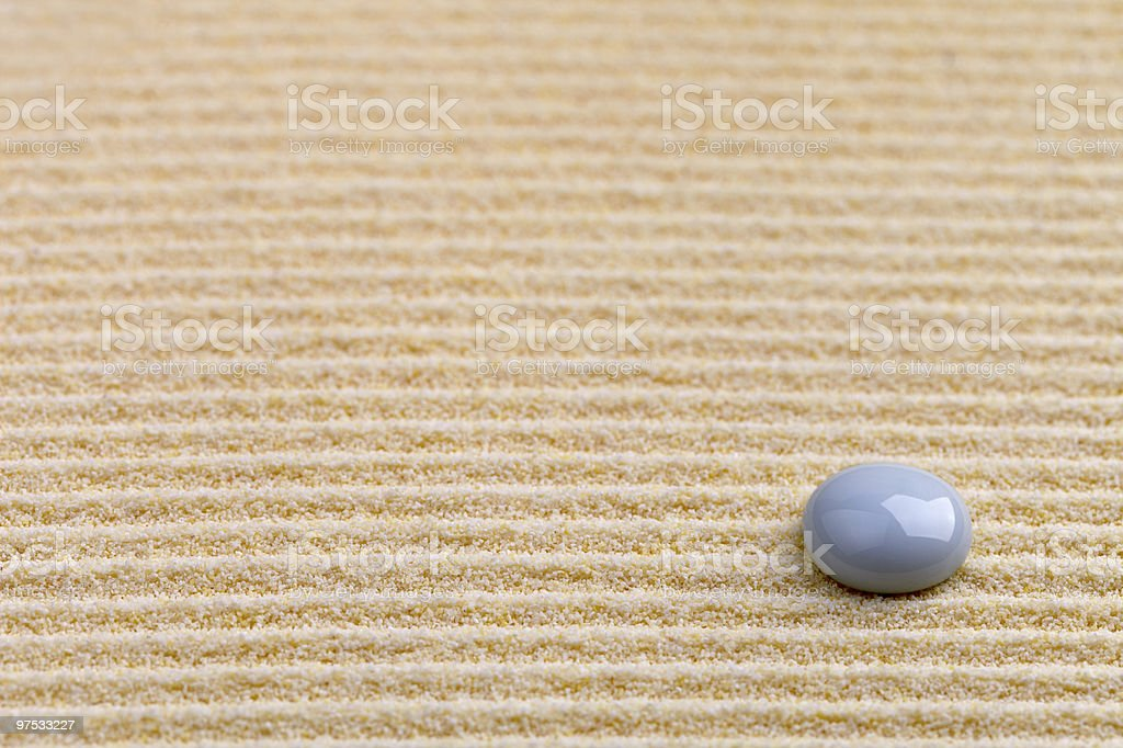 Art background - yellow sand and stone royalty-free stock photo