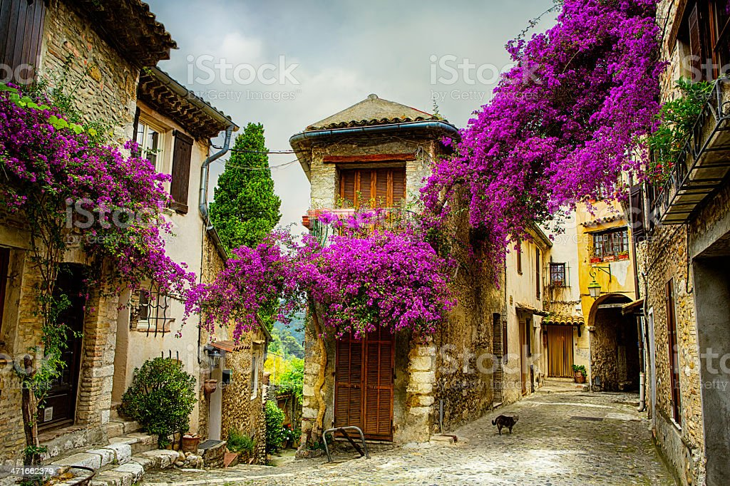 art magnifique vieille ville de Provence - Photo