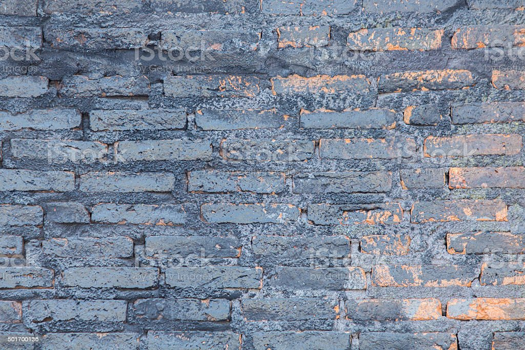 Art brick wall. stock photo