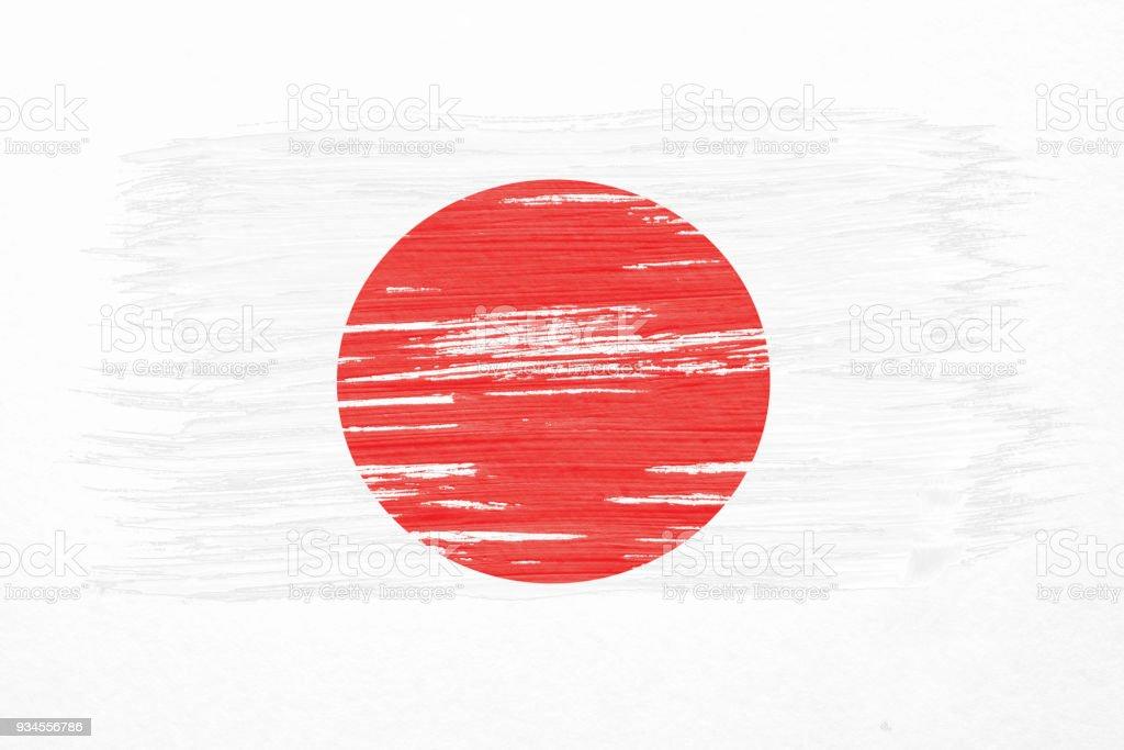 Sanat Fırça Beyaz Arka Plan üzerinde Izole Rüzgar Havaya Japonya