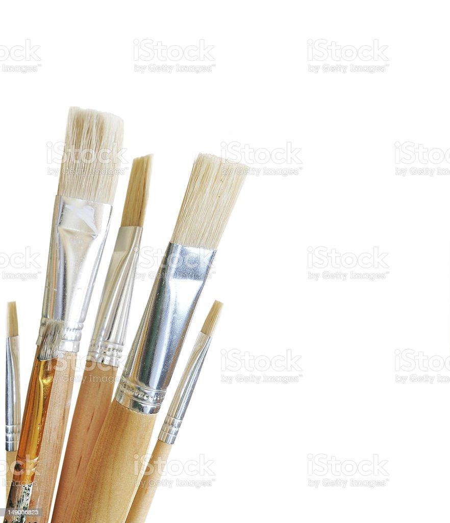 Art brushes isolated on white background royalty-free stock photo