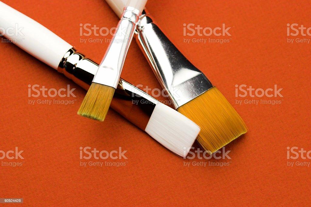 Art Brushes On Canvas royalty-free stock photo